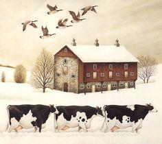 Cows, by Lowell Herrero wallpaper