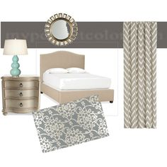 Neutral bedroom, created by smarti25 on Polyvore