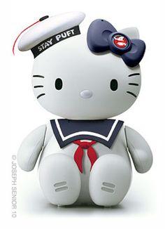 hello kitty - stay puft mash-up - fun