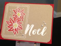 Christmas Card - Stamps:  Clearly Gina K Dashing, Stampin' Up Christmas Pines - Prismacolor Colored Pencils:  PC917, PC924, PC938 - Versamark Ink - Hero Arts White Embossing Powder - Uni-Ball Signo Broad White Gel Pen - Ranger Stickles Yellow - Viva Perlen-Pen Ice White - Paper:  Stampin' Up Real Red, Neenah Desert Storm 100lb - Crop-A-Dile Corner Chomper Deco -  Inspiration:  http://www.splitcoaststampers.com/gallery/photo/2759264
