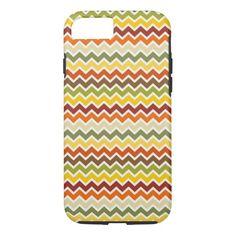 Fall Autumn Thanksgiving Chevron Zigzag Pattern iPhone 7 Case #iphone7 #iphone7Plus #iphone