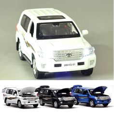 $34.95 - Cool 1: 32 Land Cruiser SUV Alloy Car Model Toys Pull Back Light&Music Toys For Children Boys Diecasts Collections Gift Vehicles Toys - Buy it Now!