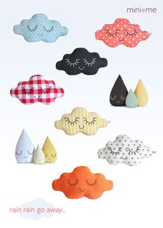 zu la boutique clouds raindrops decor nursery