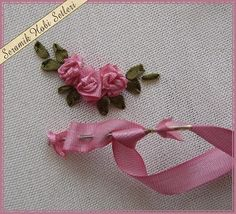 Wonderful Ribbon Embroidery Flowers by Hand Ideas. Enchanting Ribbon Embroidery Flowers by Hand Ideas. Ribbon Embroidery Tutorial, Rose Embroidery, Silk Ribbon Embroidery, Embroidery Patterns, Embroidery Thread, Embroidery Supplies, Machine Embroidery, Modern Embroidery, Ribbon Art