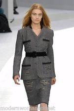 Tweed Jacket Skirt Suit