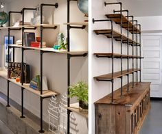 Industrial Look Shelves are awesome