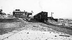 A Train leaving Sea Point Station 1920