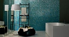 Create feature walls in bathrooms or showers with Bisazza mosaic gradient blends