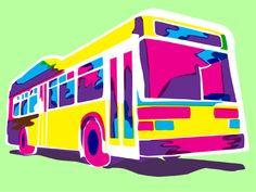 WIP of a bus illustration. I think some colors need finessing, thoughts?
