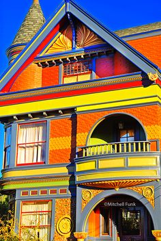Colorful Victorian House In Haight Ashbury, San Francisco By Mitchell Funk www.mitchellfunk.com