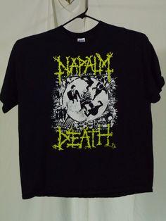 Napalm Death, Concert Shirts, Band Shirts, Cool T Shirts, Metal, Mens Tops, Fashion, Souvenir, Concert Tees