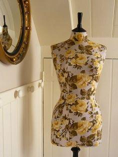 Yellow Dress Form