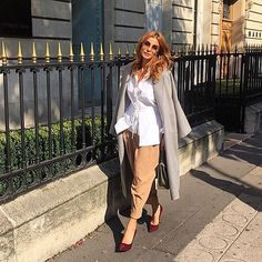 From Paris always with Love Casual Wear Women, Women's Casual, Ramona Filip, Giovanna Battaglia, Cool Style, My Style, Office Outfits, Beautiful Outfits, Work Wear