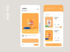 Era Dink cup card juice drink orange color ui design app Best Picture For App Design inspiration For Your Taste You are looking for something, and it is going to tell you exactly what you are looking Web And App Design, Web Design Mobile, App Ui Design, User Interface Design, Flat Design, Wireframe Design, To Do App, Web Design Tutorial, Page Web