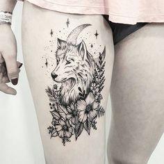 17 einzigartige Arm Tattoo Designs für Mädchen - Tattoo Trends and Lifestyle Wolf Tattoo Design, Mandala Tattoo Design, Wolf Tattoos For Women, Girls With Sleeve Tattoos, Tattoos For Guys, Wolf Girl Tattoos, Thigh Tattoos For Girls, Elephant Tattoos, Piercing Tattoo