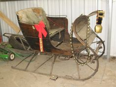 ... Antique ~ Original ~ One HORSE Open SLEIGH ~ Horse Drawn Carriage