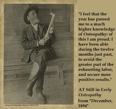 """AT Still quote from """"Early Osteopathy"""""""