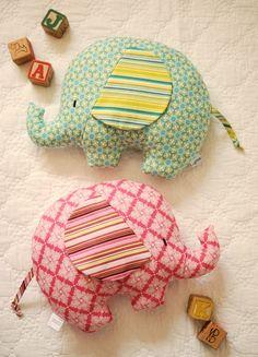 Elephant softies by Retro_Mama. Love them!