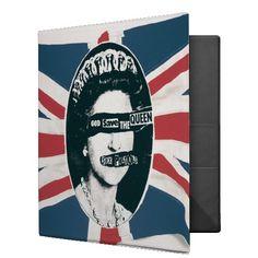 God Save the Queen - Flag 2 3 Ring Binder #binder #sexpistols #godsavethequeen #punk #rock #music
