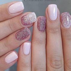 Short Nail Designs, Nail Designs Spring, Nail Art Designs, Nails Design, Glitter Nail Designs, Gel Polish Designs, Blog Designs, Glitter Gel Nails, Acrylic Nails