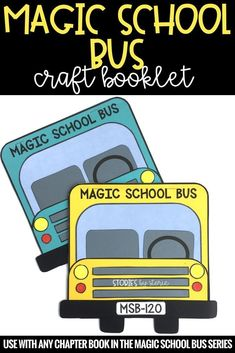 If your students love the Magic School Bus chapter book series, they will love creating this bus craft and response booklet. These booklets are a great way to track student comprehension. You will find pages for story elements, a K-W-L chart for the scien