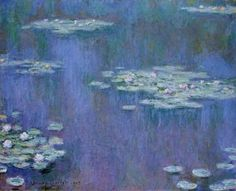Monet Waterlilies - This is my all-time fave painting. My husbsnd bought it for me as a wedding present.