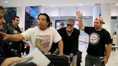 Stan Lee and Greg Tingle (Sydney Airport, Australia)