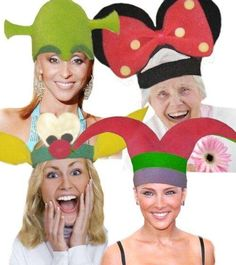 sombreros locos para fiestas - Buscar con Google Female Clown, Funny Hats, Arts And Crafts, Paper Crafts, Hat Crafts, Crazy Hats, Photo Booth, Party Time, Mickey Mouse