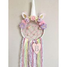 Personalised Unicorn Dreamcatcher with added webbing/Nursery