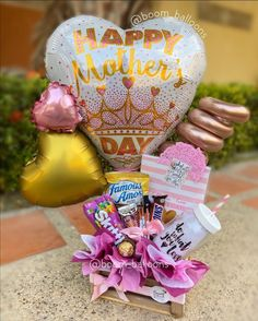 Famous Amos, Basket Ideas, Mayo, Happy Mothers Day, Gift Baskets, Snow Globes, Bouquets, Balloons, Hobbies