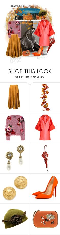 """The First Set of Fall (Please Read)"" by cocodobard ❤ liked on Polyvore featuring Kaelen, Dolce&Gabbana, Antonio Berardi, Chanel, Christian Louboutin and Dsquared2"