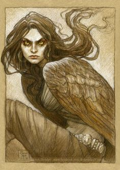 The harpy, Marta by BohemianWeasel on DeviantArt Greek Creatures, Magical Creatures, Fantasy Creatures, Greek Mythological Creatures, Dark Fantasy, Fantasy Art, Character Inspiration, Character Art, Bird People