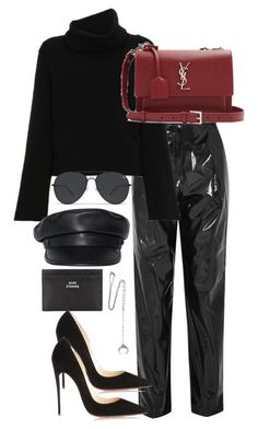 """Untitled #5449"" by theeuropeancloset on Polyvore featuring TIBI, Chloé, Yves Saint Laurent, Dsquared2, Acne Studios, Christian Louboutin and Chan Luu"