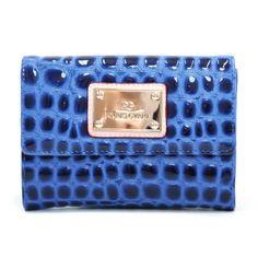 Anais Gvani ® Women's Classic Petite Croco Embossed Bi-fold Wallet