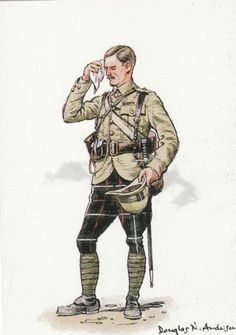 British; Highland Light Infantry, Officer, S.Africa, 1899 by Douglas N.Anderson