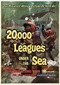 """20,000 Leagues Under the Sea"" (1954) directed by Richard Fleischer / 2nd grossing film in 1954"