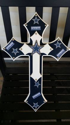 Dallas Cowboys cross by MorgansCustomCrosses on Etsy