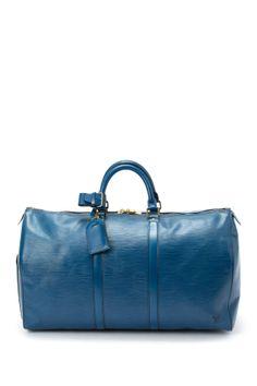 Vintage Louis Vuitton Leather Keepall 50
