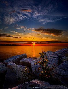 Before You Woke, Sunrise, Lake Michigan | by Phil Koch