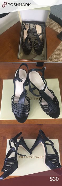 NWT Sexy Black Martin Heels Heels by Franco Sarto . These will dress up any outfit and are perfect for summer parties and dancing. Franco Sarto Shoes Heels