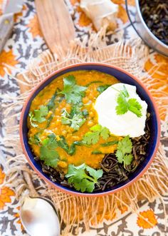 Recipe: Wild Rice Bowl with Red Lentil Curry and Spinach — Dinner Recipes from The Kitchn