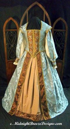 MADE TO ORDER Renaissance Elizabethan Court Gown Dress. $425.00, via Etsy.