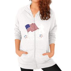 American Ninja Warrior Zip Hoodie (on woman) Shirt