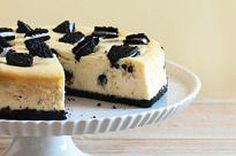 Treat yourself with this luscious, creamy cheesecake that has bits of OREO throughout.