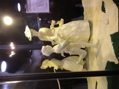 Can you believe this was made entirely of butter? #Art at the State Fair, Texas