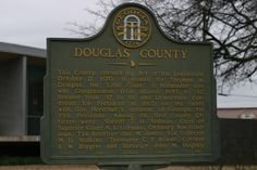 Founder's plaque in front of the Old Courthouse, Douglasville, Georgia.  Photo by Donna Bowlick 01/04/2014.