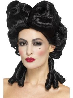 Buy your Gothic Baroque Wig for your party looks from the Halloween Spot. It is a black coloured Beautiful Gothic Baroque Wig made of Polypropylene. Black Curly Wig, Black Wig, Curly Wigs, Halloween Wigs, Halloween Fancy Dress, Adult Halloween, Disney Halloween, Halloween 2020, Costume Wigs