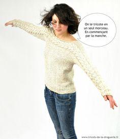 Le pull Auray tricoté en un seul morceau. Bientôt sur mes aiguilles !!!