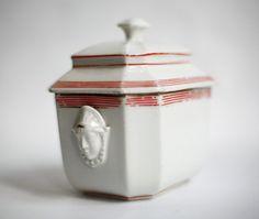 Antieke Franse suiker kom, jaren 1880, Franse keuken decor, chateau chique, Franse provinciaal, snoep pot, zoete jar, Parijse decor, porselein
