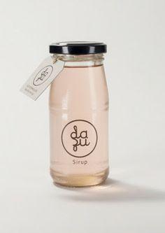 "Packaging Design ""Dazu"" Basilikum Sirup"